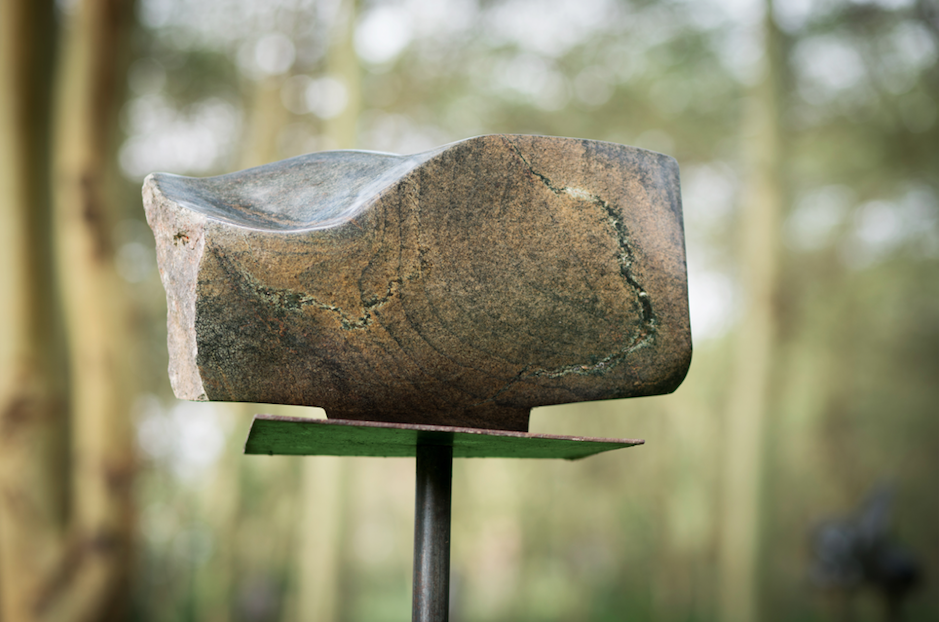 "Mieke van Grinsven, ""Extended Touch"", stone sculpture"