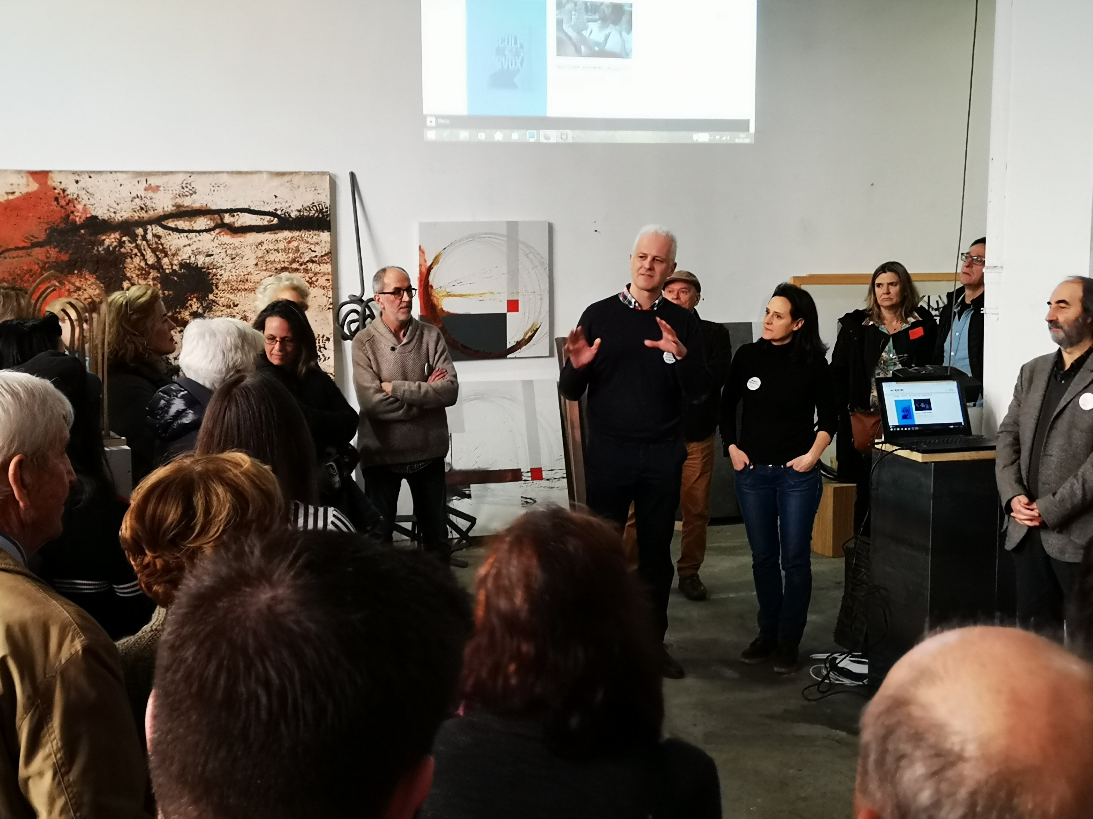 sculpture network Dialogue am 2. Februar 2020 in Logroño