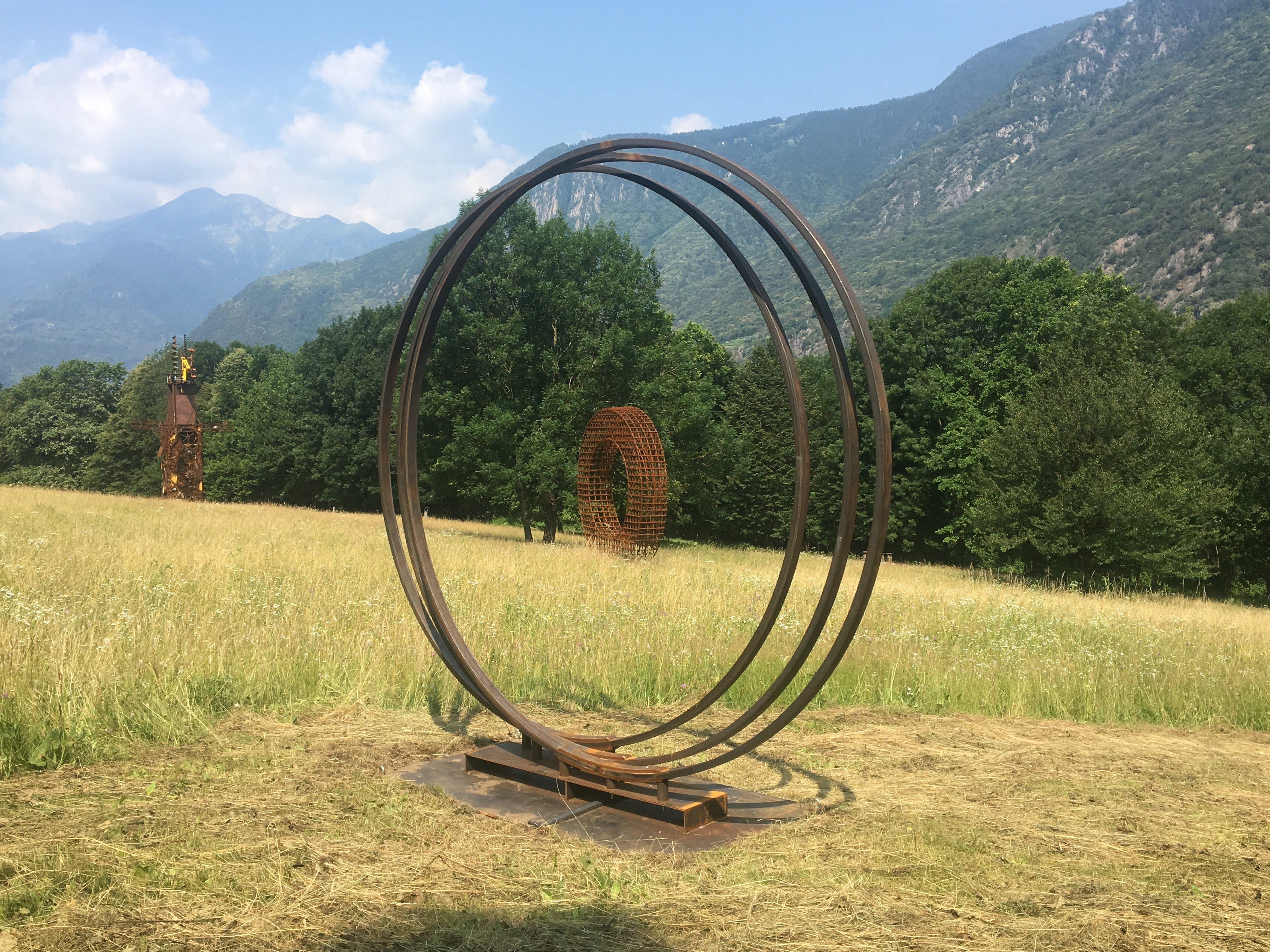Harry Schaffer, Three Rings, Roveredo 2019, photo: Harry Schaffer