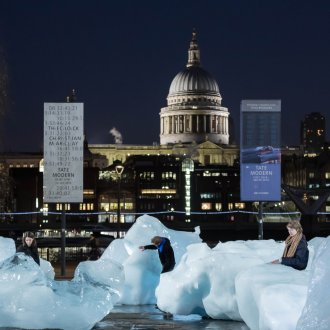 Ice Watch by Olafur Eliasson and Minik Rosing. Supported by Bloomberg