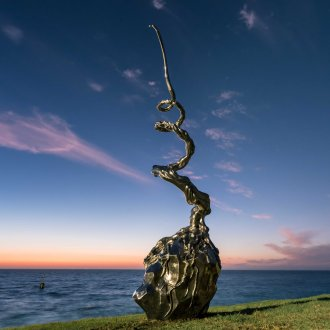 Yi Cui, Time After Time No.2, Sculpture by the Sea, Cottesloe 2019 ©Richard Watson